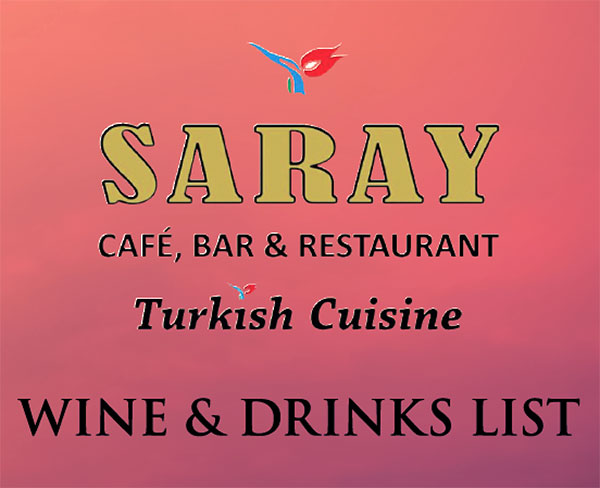 Saray Wine and Drinks List